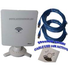 Adaptor Wifi Wireless Kinamax TS-9900 5800mW 58dbi 10m Cablu