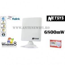 Adaptor Wifi Wireless Netsys 9000WN 6800mW 98dbi 1m Cablu USB