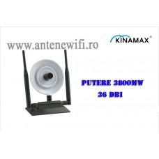 Adaptor Wifi, Wireless Usb Kinamax TS-9800 Antena 36dBi